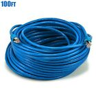10-100FT Cat6A RJ45 Network LAN Ethernet Shielded Patch Cable Copper 26AWG Blue