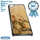 Cover for iPhone 5c Case #232 Artistic Painting Roses Tree Abstract Gift Idea