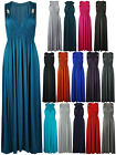 NEW WOMEN LADIES LONG STRETCH MAXI SUMMER DRESS SIZE 8 10 12 14 UK