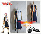 Anime Fairy Tail Natsu Dragneel Cloth and shoes one set Cosplay costume Any Size