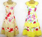 Caramel Red Yellow Pink White 1950's Vintage Style Summer Tea Dress Sundress