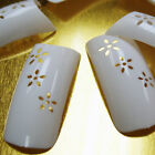 FLOWER HOLD White colors Natural French False Nail Art Tips Acrylic Gel Makeup