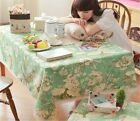 HBZ31 fabric linen cotton floral tablecloth dining kitchen table cloth cover