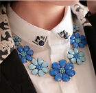 Bohemia Colored 7Flower Pendant Inspired Daisy Chunky Necklace Bib Choker Chunky