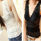 Charm Women's Sexy Lace Flower Tank Top  Sleeveless Classics T-Shirt/Vest HOT
