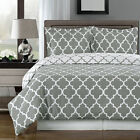 Meridian Gray and White Duvet Cover Set - 100% Egyptian Cotton
