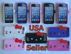 iPhone 5 (Hello Kitty) Solid Silicon Skin Soft Gel Case Cover Accessory