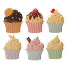 Fridge Magnet - Iced Cupcakes, Colourful Designs. Hand Painted 3D Resin - 7cm