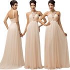 New Off Shoulder Design Evening Party Prom Long Wedding Bridesmaid Pageant Dress