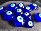 hand made Lampwork GLASS BEADS  Evil eye 18mm 14mm blue eye