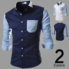 Stylish Men's Casual Long Sleeve Button Slim Fit Formal Business Dress Shirt