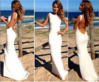New Women MAXI sexy party clubwear backless cocktail long bandage bodycon dress