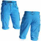 Mish Mash 2135 Rick Etts Mens Blue Cargo Summer Shorts Size 28 30 Was £59.99