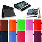 Folio Leather Case Cover Stand for Samsung Galaxy Tab 2 10.1 Inch Tablet