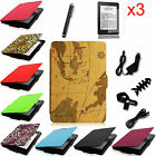 For All-New Kindle Paperwhite 6 inch Auto Sleep/Wake Leather Case Cover+ Bundles