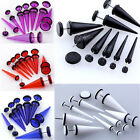 Pair Acrylic Taper Spike Fake Cheater Gauge Illusion Men Ear Stud Plugs Earring