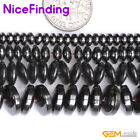 2x4mm 3x6mm 3x8mm Rondelle Black Magnetic Hematite Beads For Jewelry Making 15''