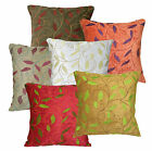 wh+6 Color Plant Leaf Pattern Thick Cotton Cushion Cover/Pillow Case*Custom Size
