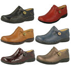 Ladies Clarks Un Loop Burgundy Or Bronze Leather Slip On Shoes D Fitting