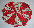 Hand Made 10ft /13 Flag Red and White Toy Shop Christmas Fabric Bunting Garland