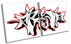 Abstract Graffiti MULTI CANVAS WALL ART Picture Print VA