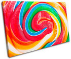 Lollipop Sweets For Kids Room SINGLE CANVAS WALL ART Picture Print VA