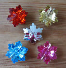 4 Novelty Buttons -Snowflake Gem Buttons - 22mm - Christmas - Knitting - Sewing