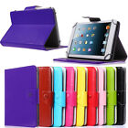Universal Folding folio leather case cover stand for RCA Irulu 7 inch tablet pc