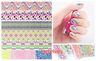 Nail Art Stickers Ultra Thin Neon Colours Patch Foil Decals Wrap Tips Decor