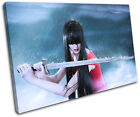 Samurai Sword Girl World Cultures SINGLE CANVAS WALL ART Picture Print VA