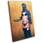 Burka Sexy Apron Banksy Painting SINGLE CANVAS WALL ART Picture Print VA