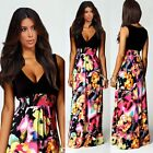 Ladies Womens Maxi Dress Size 10-14 Summer Long Skirt Evening Cocktail Party TOP