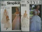 STYLE SIMP GOTHIC PRINCESS BRIDAL DRESS COSTUME SEWING PATTERN 9163 or 2903