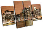 NYC New York Skyline City MULTI CANVAS WALL ART Picture Print VA