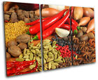 Spices Peppers Food Kitchen TREBLE CANVAS WALL ART Picture Print VA
