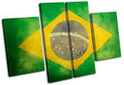 Abstract Brazilian Maps Flags MULTI CANVAS WALL ART Picture Print VA