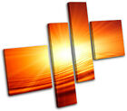 Sunset Design Abstract MULTI CANVAS WALL ART Picture Print VA