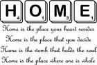 Home Poem in 2d Scrabble Tiles Letters a Vinyl Wall Art Sticker Very Big Board