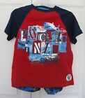 Boys 3-Piece Set - Short, Top & Flip Flops - Surfing Print - Size XS (4-5)