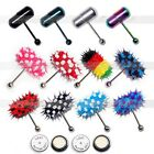 Colorful Vibrating Tongue Bar Ring Stud Ear Body Piercing Jewelry + 4 Batteries