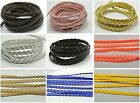 10 Meter Flat Braided Bolo Leatherette String Jewelry Cord 5X1mm Pick Your Color