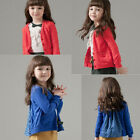 Autumn Spring Kids Girls Toddlers Outwear Jacket Dot Bow Coat Outer Wear Surcoat