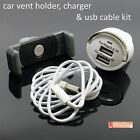 Airframe Car Air Vent Travel Stand Mount Holder + USB Charger+ iphone 4,5 Cable