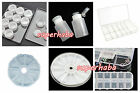 Nail Art Containers Holder Case Boxes Rhinestones Nail Art Brushes Storage Wheel