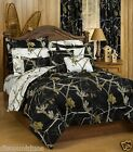 Realtree AP Black and AP Snow Reversible Comforter and Sham Set