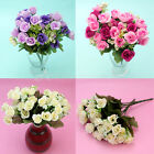 Pack of 2 Bouquets Flowers Artificial Fake Rose Home Party Wedding Decor New