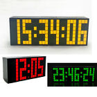 4/6 Digits Digital Large Big Jumbo LED Snooze Calendar Wall Desk Alarm Clock