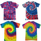 New Kids Colortone Rainbow Tie Dye Top Short Sleeve Round Neck T-Shirt Size XS-L