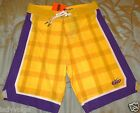 NIKE 6.0 Yellow Plaid Men's Board Shorts Trunks size: 34 Regular $90 NWT