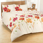 Ellen Floral Spice Orange Pink Cream Duvet Cover Quilt Bedding Set